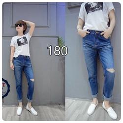 Quần jeans dài rách