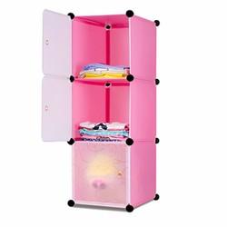 Tủ lắp ráp 3 ngăn cao cấp tự thiết kế Dhome 3103