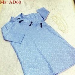 Áo dài nữ cách tân dài tay chất liệu ren nổi sang trọng AD60