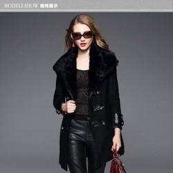 QC68999 Áo khoác lông dáng dài cao cấp Quảng Châu