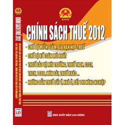 Chính sách thuế 2012 song ngữ Anh Việt