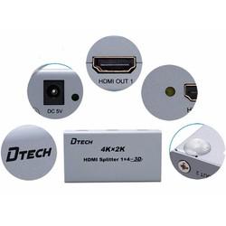Bộ chia HDMI 2 cổng DTECH DT-7142