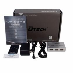 Bộ gộp HDMI 5 cổng ra 1 cổng DTECH DT-7021