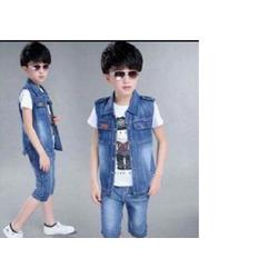 Set áo gile + quần jean thun