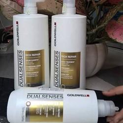 Cặp gội xả Goldwell Rich Repair 750ml dành cho tóc hư tổn