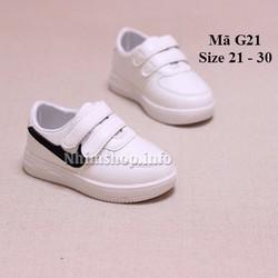 Giày thể thao cho bé gái năng động và cá tính G21 trắng