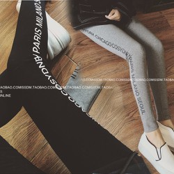 Quần legging nữ phối chữ 2 bên cực kỳ cá tính 106