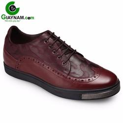 Giày tăng chiều cao thể thao màu đỏ vang