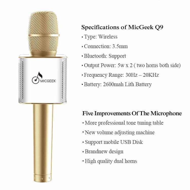Micro kiêm loa hát karaoke cao cấp Q9 5