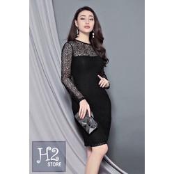 Đầm body ren tay dài thiết kế