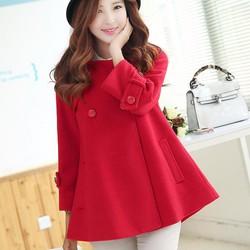 Áo khoác dạ winter 2 lớp- Shop hết hàng màu đỏ