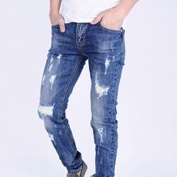 Quần Jeans nam skinny rách bụi DT6070