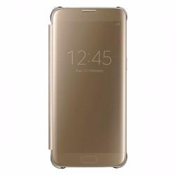 Bao da Samsung-Galaxy S7 Edge Clear View màu vàng sang trọng