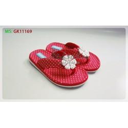 Dép kẹp chấm bi nơ hoa GK11169 - Màu Đỏ
