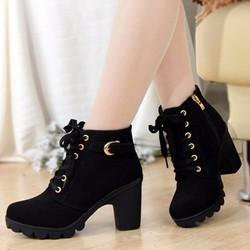 Giày boot nhung B001