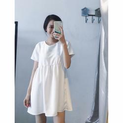 Đầm Baby Doll Tay Ngắn TRẮNG