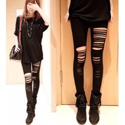 quần legging nữ rách ngang Mã: QB488