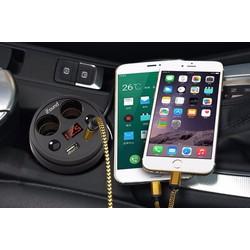 Bộ chia tẩu và sạc điện thoại trên ô tô IFlound cao cấp