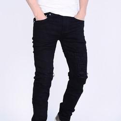 Quần Jeans nam màu đen co giãn prada DT270-1