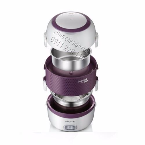 Hộp cơm cắm điện inox 3 ngăn hút chân không Bear DFH-S263 2