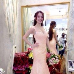 Đầm cô dâu cúp ngực 2 dây đuôi cá kiêu sa quyến rũ zDMX88