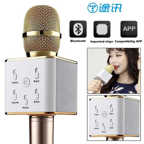 MIC 2 trong 1 LOA karaoke Q7 Hàng loại 1 cải tiến hơn