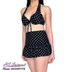 Đồ bơi nữ hai mảnh bikini chấm bi HS Swimsuit