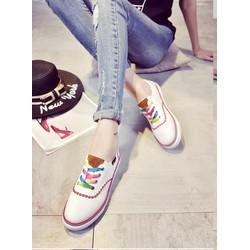 Giày bata dây sắc màu
