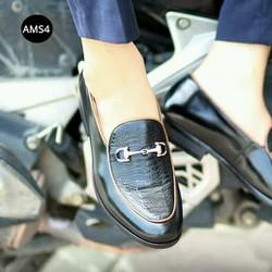 giày đế cao thời trang vân da trăn