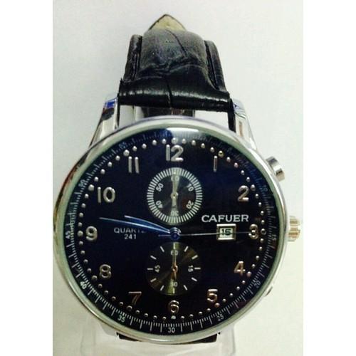 đồng hồ nam cafuer mã  CA01 kim xanh mặt đồng hồ ảnh xanh