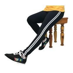 Quần legging nữ thể thao 2 sọc 2 túi sau