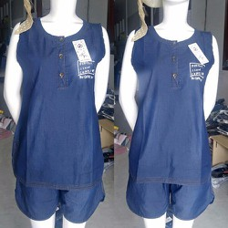 Set Áo Jean Và Quần Short Jeans