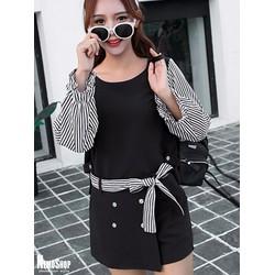 Set bộ áo kiểu và quần giả váy xinh xắn - 8762 - Hàng Nhập