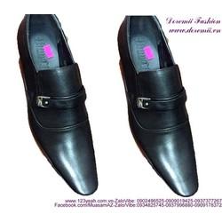 Giày tây nam công sở khóa ngang lịch lãm sang trọng GDNHK163