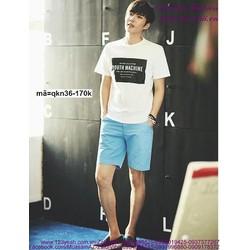 Quần short kaki nam phong cách Hàn Quốc trẻ trung
