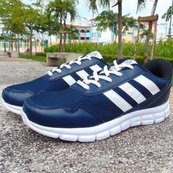 giày thể thao xanh ba sọc trắng