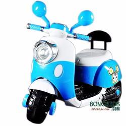 Xe Máy điện Vespa trẻ em màu xanh