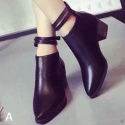 giày boot nữ gót vuông