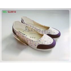 Giày Búp Bê Vải Kaki Cao Cấp SL0910 - Màu Tím