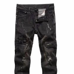 Quần jeans côn nam xước nhẹ
