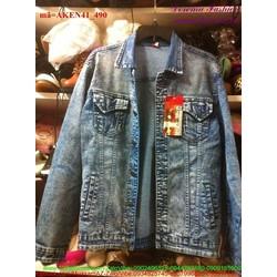 Áo khoác jean nam bụi bặm phong cách sang trọng AKEN41