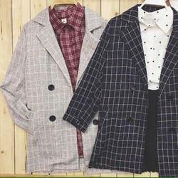 Áo khoác blazer dạ kẻ