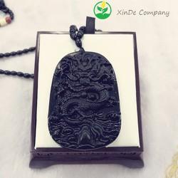 Dậy chuyền  Đá Vỏ Chai Obsidian hình Rồng