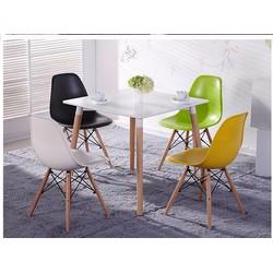 Ghế chân gỗ Eames màu sắc đa dạng, kiểu cách sang trọng