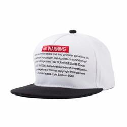 nón cặp in FBI WARNNG nón hiphop nón bóng chày vành phẳng