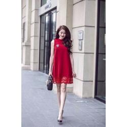 Đầm Suông Phối Ren Hot