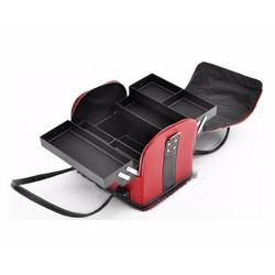 Túi da đựng đồ trang điểm MakeUp xách tay tiện dụng-Đỏ