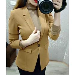 Áo khoác vest Pun Shop tay dài kèm hình thật