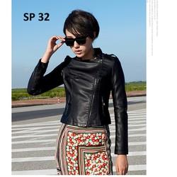 Áo da nữ cao cấp, thiết kế độc đáo, phong cách, sành điệu  - SP 32