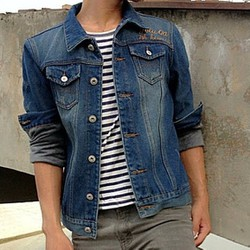 Áo khoác jeans nam lót lông Hàn Quốc